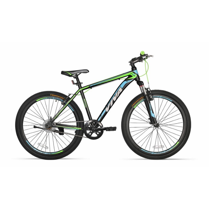 "Viva 1.0 SX 26"" Single Speed Mountain Bike 2018 Black Green"