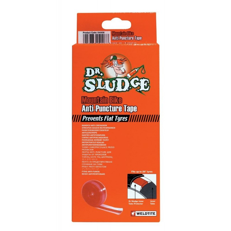 Dr.Sludge Tire Liner Red For Mtb 26 35mm
