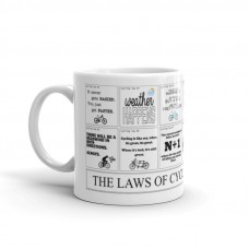 wizbiker Laws of Cycling Coffee Mug