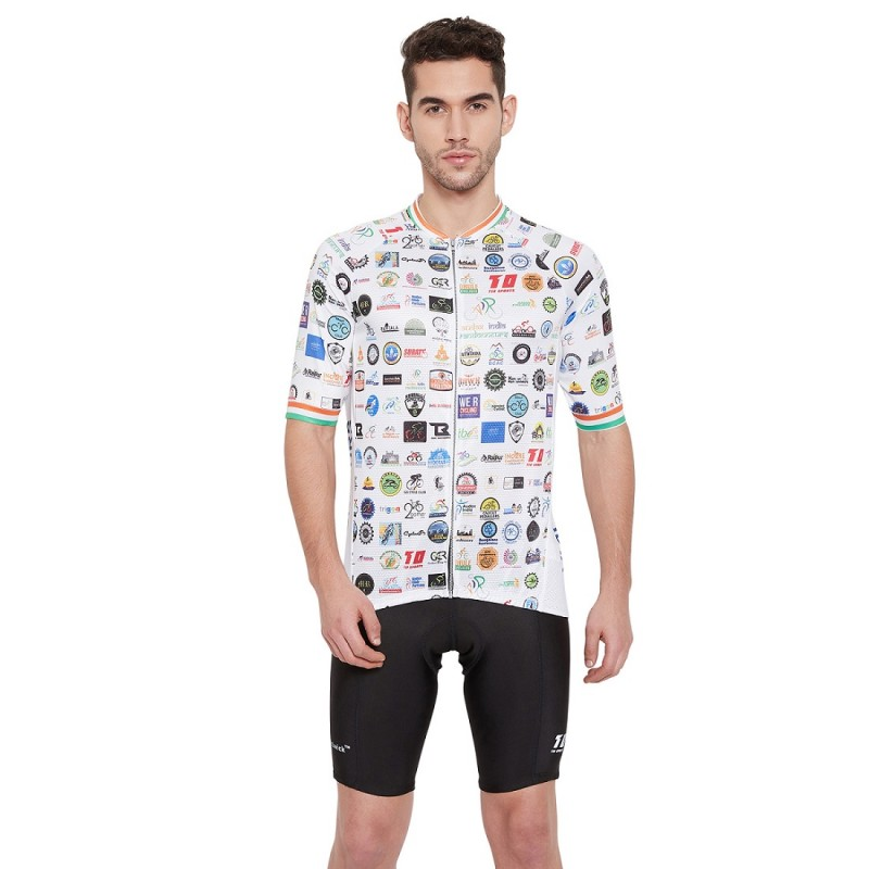 Audax India Mens Club Fit Cycling Jersey White