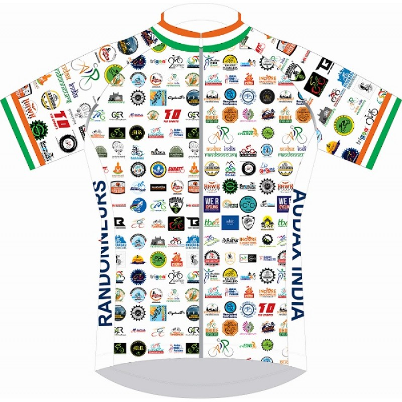 Audax India Womens Club Fit Cycling Jersey White