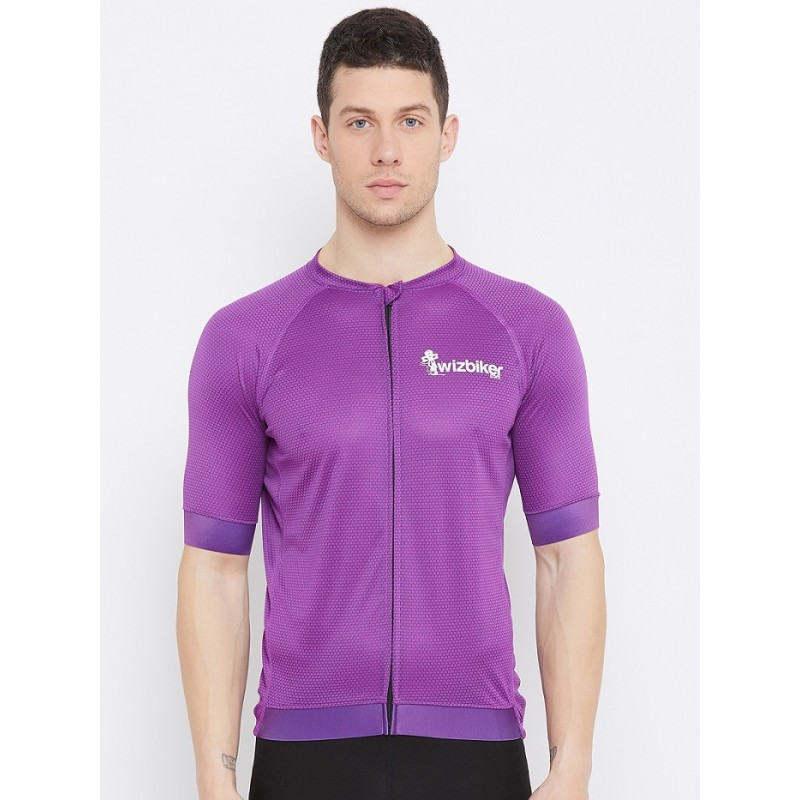 wizbiker Classic Cycling Jersey Purple