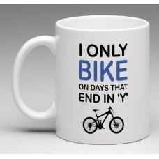wizbiker Days Cycling Quote Coffee Mug