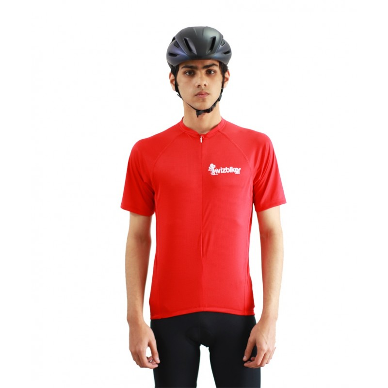 wizbiker Essential Cycling Jersey Red