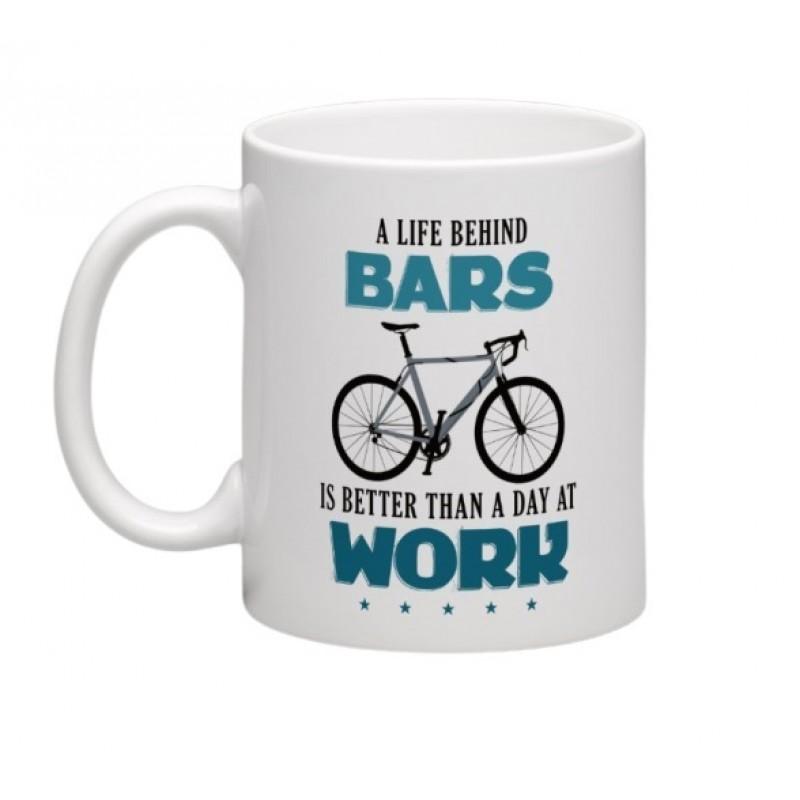 wizbiker Life Behind Bars Biking Theme Mug