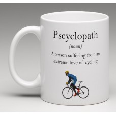 wizbiker Pscyclopath Cycling Theme Mug