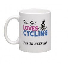 wizbiker This Girl Loves Cycling Theme Mug