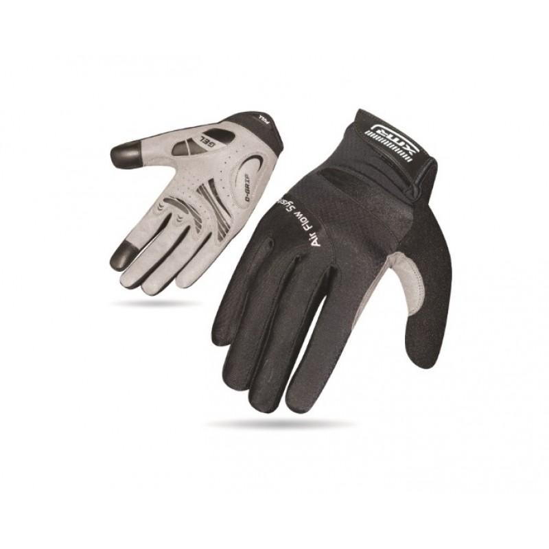 XMR Air Flow Gel Full Finger Hand Gloves Black (AI-03-915)