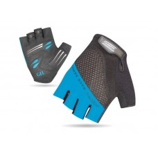 XMR Race Series Gel Foam Half Finger Hand Gloves Black Blue (AI-03-241)