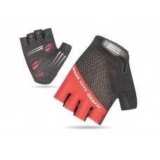 XMR Race Series Gel Foam Half Finger Hand Gloves Black Red (AI-03-241)