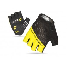 XMR Race Series Gel Foam Half Finger Hand Gloves Black Yellow (AI-03-241)