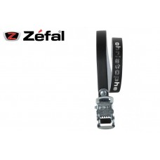 Zefal Christophe Pedal Clip Belt Classic Leather Strap Black