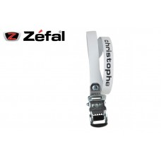 Zefal Christophe Pedal Clip Belt Classic Leather Strap White