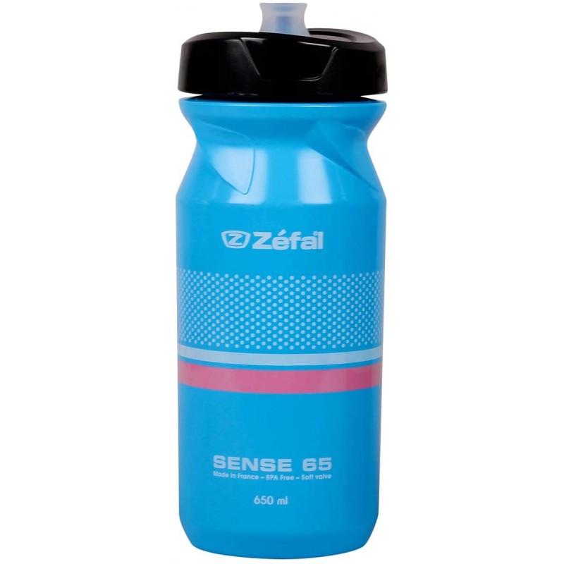 Zefal Sense M65 Water Bottle 650Ml Cyan Blue