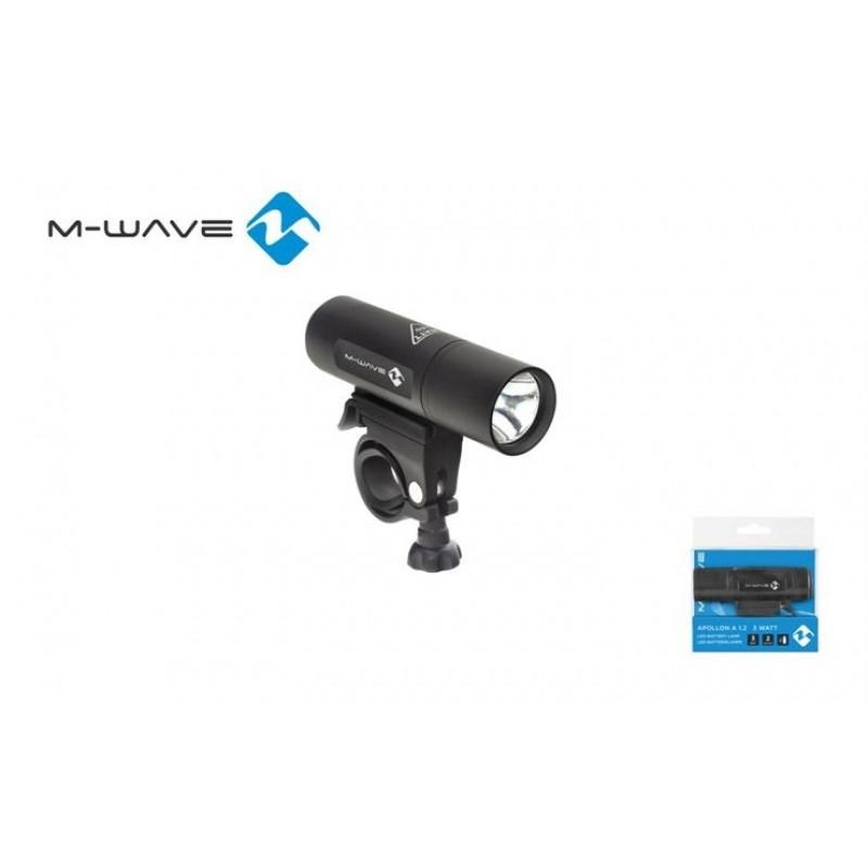 M-Wave Aluminium Housing Cycle Front Light Black