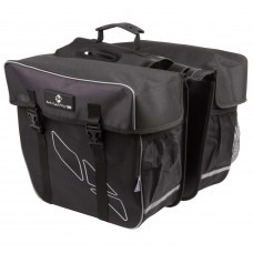 M-Wave Amsterdam Double Bicycle Carrier Bag Black Grey