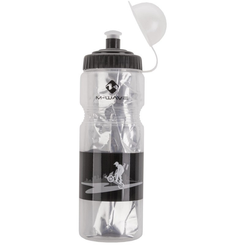 M-Wave PBO 400ml ISO Insulated/Thermo Bottle Transparent Black