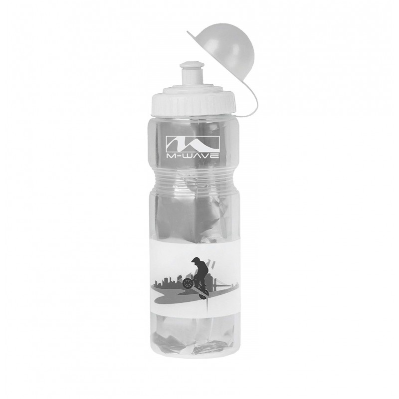 M-Wave PBO 400ml Thermo Water Bottle Transparent White