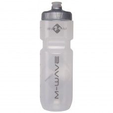 M-Wave PBO 750ml Water Bottle Black White Transparent