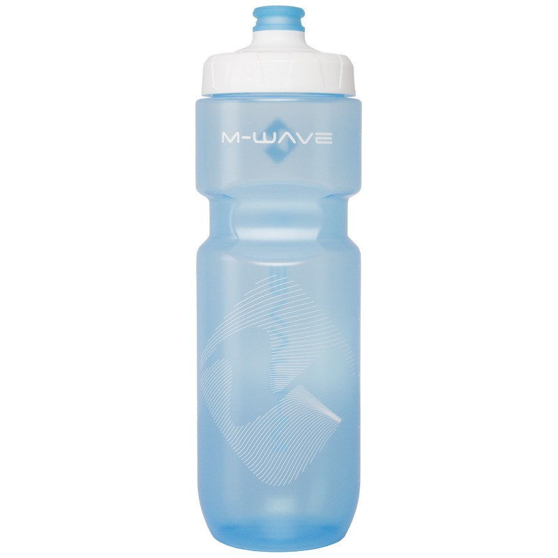 M-Wave PBO 750ml Water Bottle White Blue Transparent